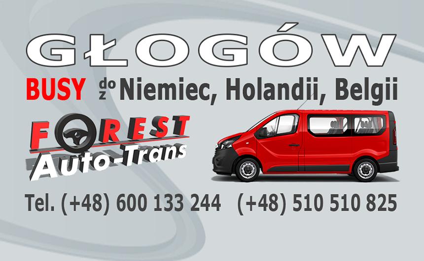 GŁOGÓW - busy do Niemiec, Holandii i Belgii z Głogowa lub do Głogowa