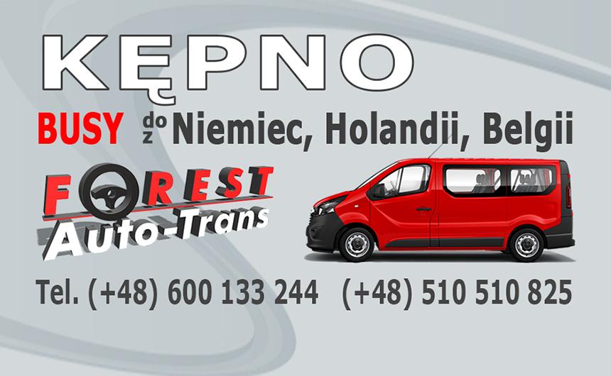 KĘPNO - busy do Niemiec, Holandii i Belgii z Kępna lub do Kępna