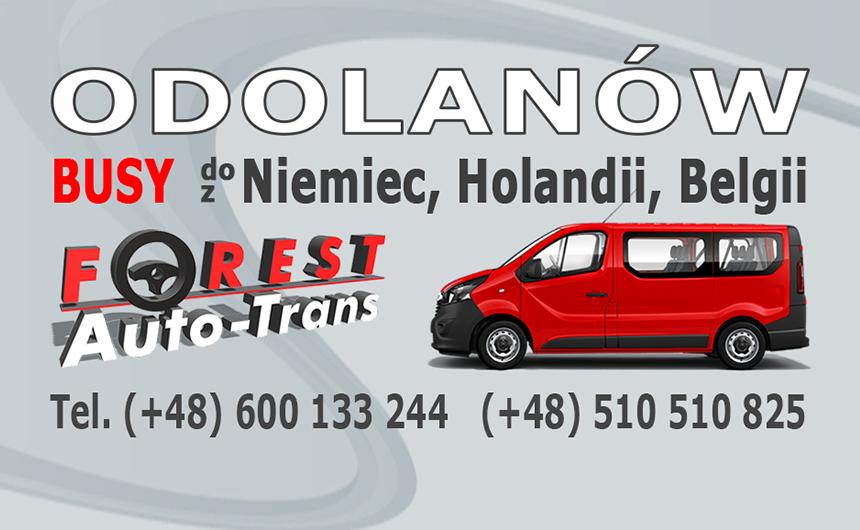 ODOLANÓW - busy do Niemiec, Holandii i Belgii z Odolanowa lub do Odolanowa