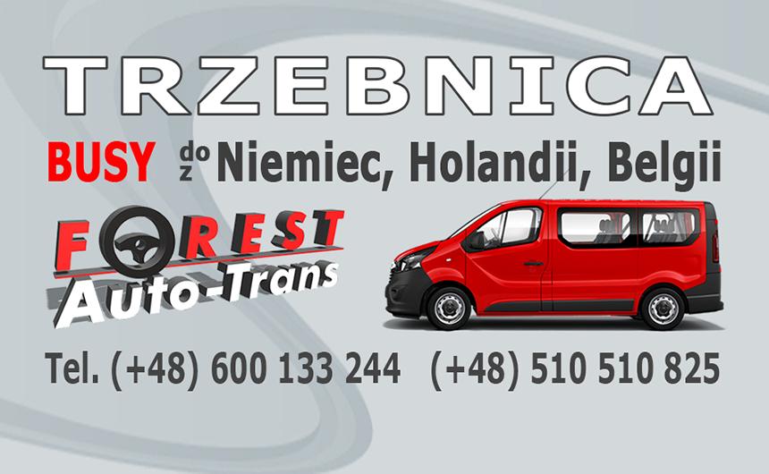 TRZEBNICA - busy do Niemiec, Holandii i Belgii z Trzebnicy lub do Trzebnicy